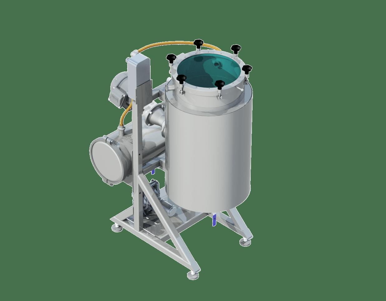 Aptia engineering vacuum oil collection reactor