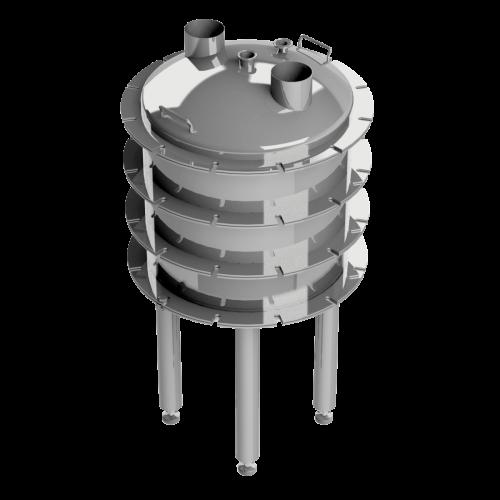 Dynamic Wafer Filter Triple Basket Stacked Version